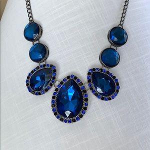 Jewelry - Blue Sapphire Statement Collar Necklace